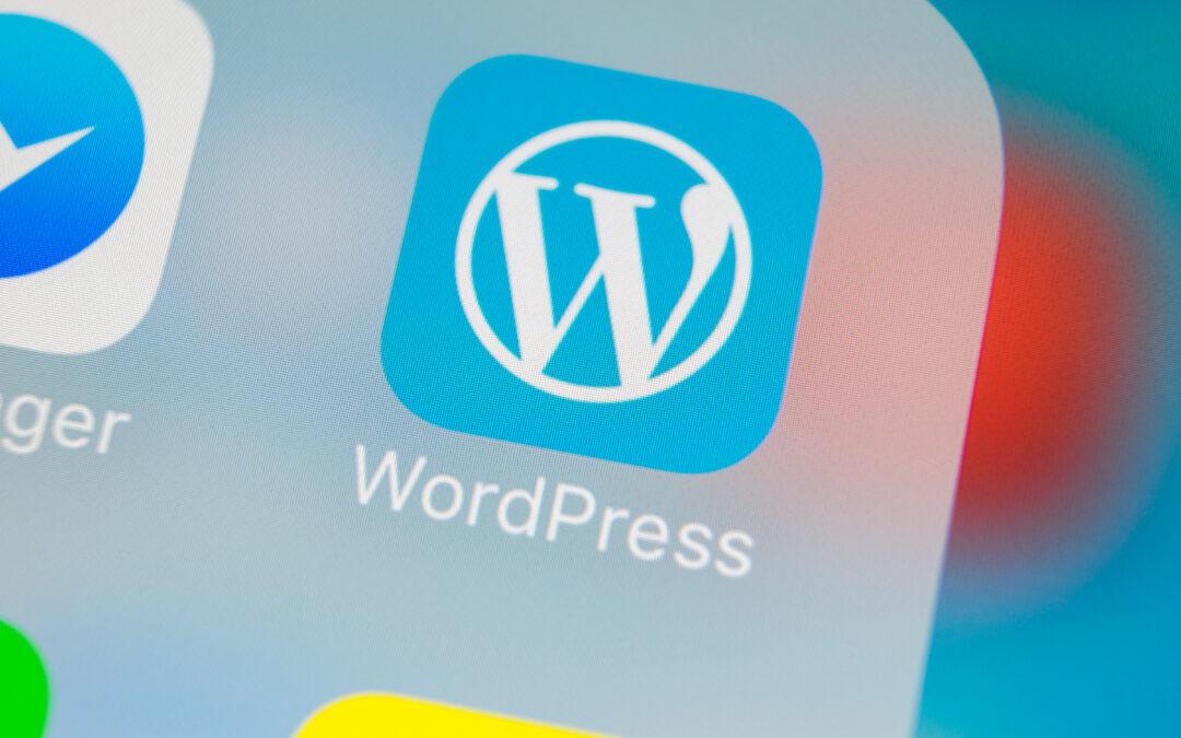 Mobile application mock up of wordpress mobile app